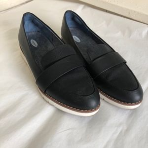 Dr. Scholl's | Black Textured Loafer Flat Size 8